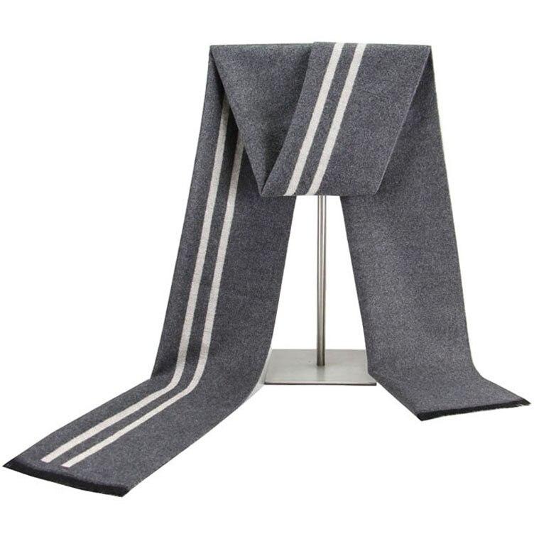 Autumn & Winter MEN'S Scarf Vertical Striped Casual Versatile Korean-style Cotton Scarf Men's Manufacturers Direct Selling A Gen