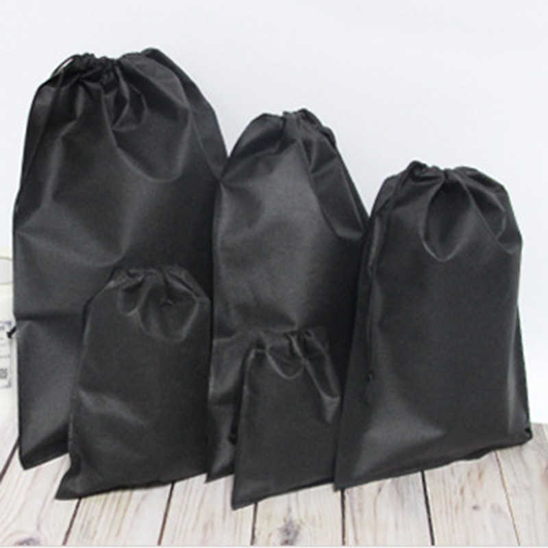 10X Waterproof Non-Woven Drawstring Bags Wash Pouch Shoes Clothes Travel Storage
