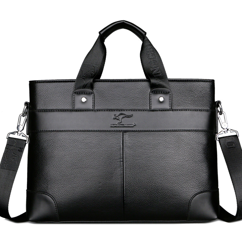 2019 Business Men's Bag Briefcase Black Casual Handbag PU Leather Briefcase Men Shoulder Bags High Quality Office Bags For Men