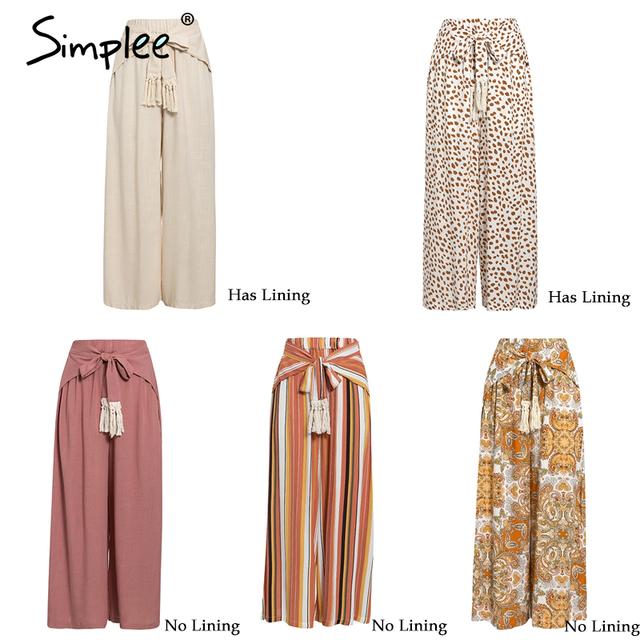 Split striped lady wide leg pants women Summer streetwear
