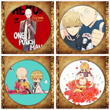 Jepang Anime One PUNCH-Man Cosplay Lencana Fashion Kartun Gambar René Tatsumaki Bros Pin Tas Dekorasi Koleksi(China)