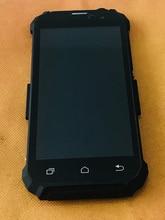Używany oryginalny wyświetlacz LCD + ekran dotykowy Digitizer + rama dla Geotel G1 MTK6580A Quad Core darmo wysyłka