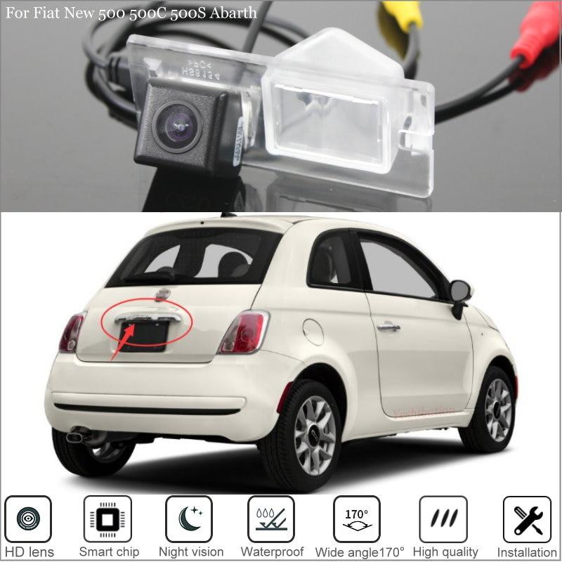 Автомобильная парковочная камера yeshiбации заднего вида для Fiat New 500 500C 500S Abarth 2007 ~ 2017 хэтчбек Высококачественная CCD камера заднего вида