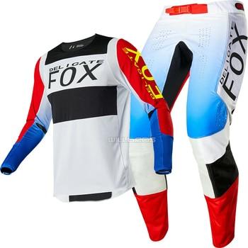 Free shipping 2020 Delicate Fox MX ATV Linc Jersey & Pant Combo Motocross Racing Adult Gear Combo MX SX Off-Road ATV Dirtbike