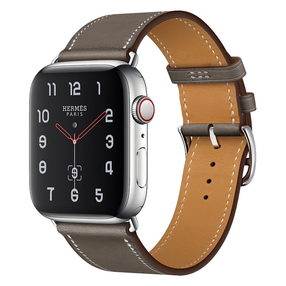 Кожаный ремешок для iWatch 40 мм 44 мм, спортивный браслет для Apple watch 42 мм 38 мм Series 1 2 3 4 5 6 se