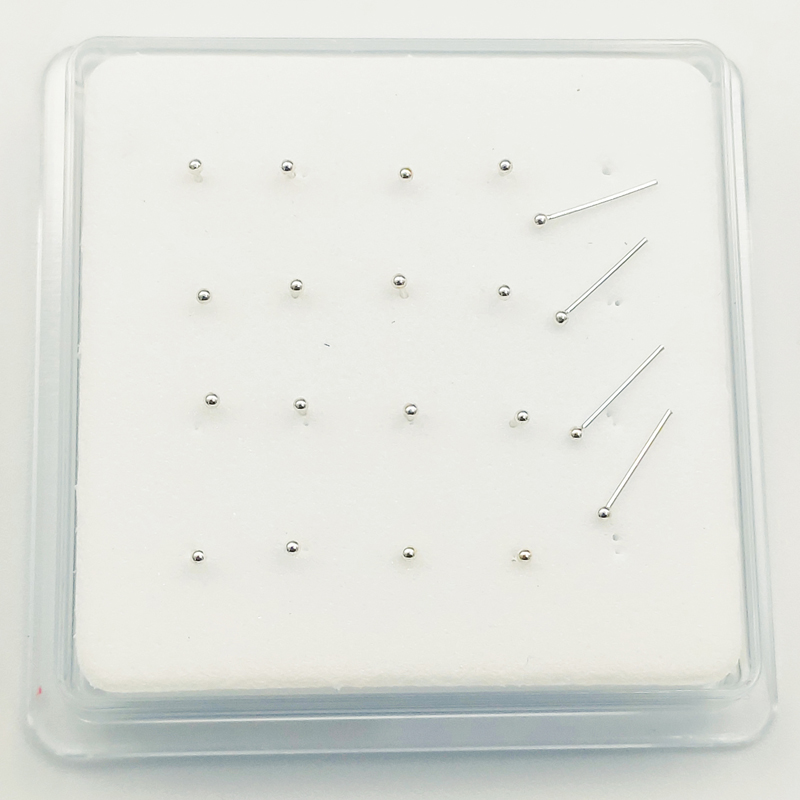 925 Sterling Silver 1.2 mm ball  Nose Studs Pins Bone  Piercing nez Body Piercing jewelry 20pcs/pack-2