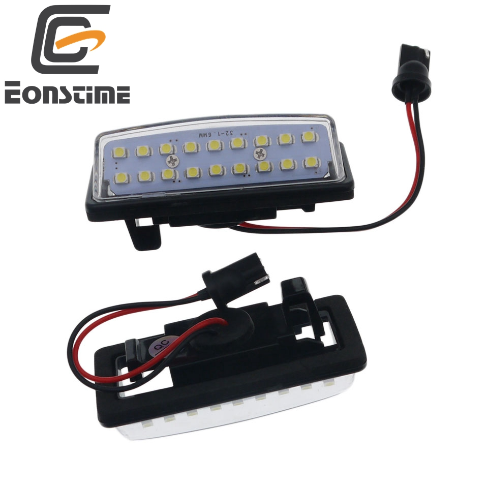 Eonstime 6500K 2pcs 18LED License Plate Light Lamps for Nissan Altima Maxima Murano 2013 Altima <font><b>Infiniti</b></font> QX80 <font><b>QX60</b></font> QX56 <font><b>JX35</b></font> image