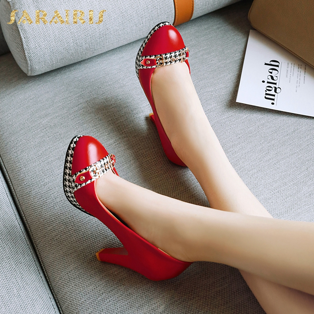 Sarairis On Sale Elegant Big Size 48 Spike High Heels Platform Platform Spring Lady Women Shoes Woman Pumps