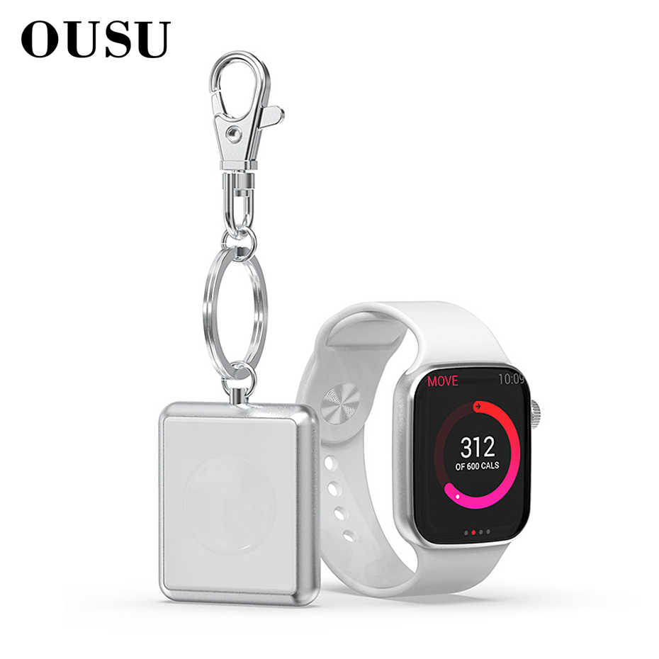 OUSU Mini QI Wireless Charger for apple watch Magnetic Charger for iwatch 1 2 3 4 cargador usb Fast Charging Station