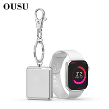 OUSU Mini QI Wireless Charger for apple watch Magnetic iwatch 1 2 3 4 cargador usb Fast Charging Station