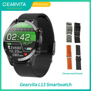 2020 New Gearvita L13 Smart Watch ECG Heart rate Bluetooth Call Blood Pressure Sport Watch for men women IP68 VS L16 smartwatch