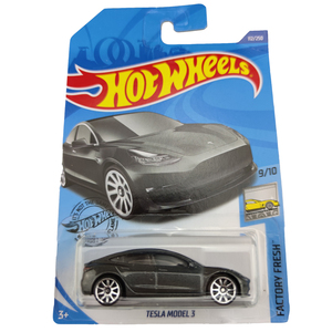 Image 4 - Hot Wheels 1:64 Car TESLA MODEL 3  S  X  Collector Edition Metal Diecast Model Cars Kids Toys Gift