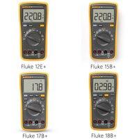 Fluke 15B + \/ 17B + \/ 18B + \/ 12E + Digital Multimeter DMM AC \/ DC \/ R \/ C Continuous Voltage and Current Test Auto Range