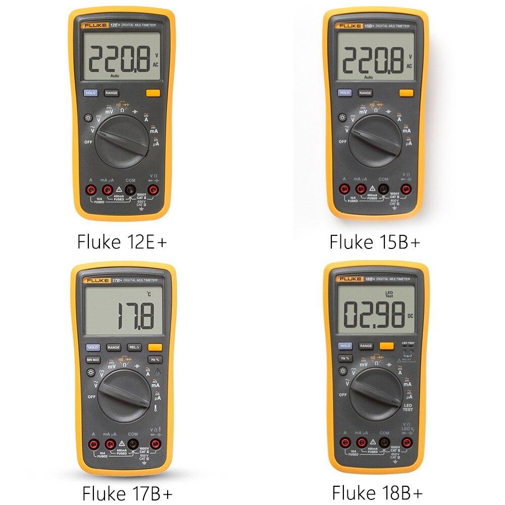 Plus Auto Gamme multim/ètre num/érique DMM AC//DC//Diode//R//C testeur de tension de courant // 17B CHENTAOCS Fluke 15B dorigine Couleur : Fluke 18B plus // 18B // 12E