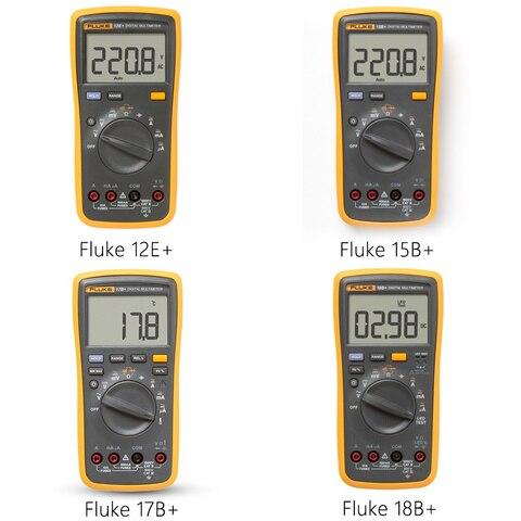 Contínua e Corrente de Teste 15b + – 17b + – 18b + – 12e + Multímetro Fluke Digital dc r c Tensão Automático Gama Dmm ac –