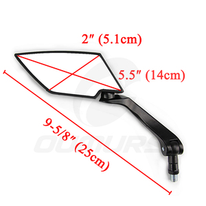 Image 2 - OUMURS Motorcycle Mirror Scooter E Bike Rearview Mirrors Electrombile Back Side Convex Mirror 8mm 10mm Carbon Fiber Universal