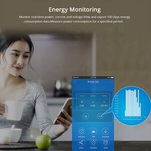 Image 2 - Умный Wi Fi контроллер Sonoff Pow R2, 15 а/3500 Вт, с измерением энергопотребления в реальном времени, умное домашнее устройство