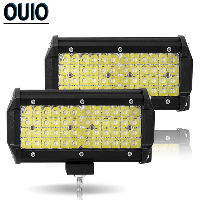 40 LED Work Light Bar Offroad 7 Inch 144 Watt Led Driving Light Motorcycle Auto Lamp 12V 24V DRL Led Car Truck TractorTrailer in Light Bar Work Light from Automobiles Motorcycles