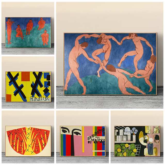 The Dance and Other Abstract Paintings by Henri Matisse Printed on Canvas 1