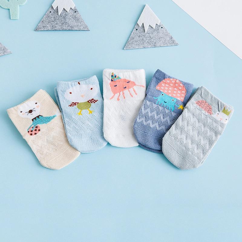 Spring And Summer Mesh Thin Baby Socks CHILDREN'S Socks Cotton Small Alpaca Cartoon Stereo Children's Socks