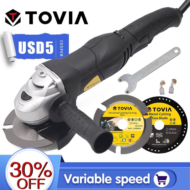 TOVIA125ммУШМБолгарка950WгриндердлярезкиподеревуметаллукамнюМ14регулировакаскорости3000 10500оборотовгрендер220V с удлиненный хвостовиком и переключателем скоростей для разных задач гриндер