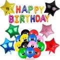 1 комплект с изображением героя мультфильма, вечерние шар с днем рождения с игровым принтом для мальчиков Детские вечерние украшения в маск...