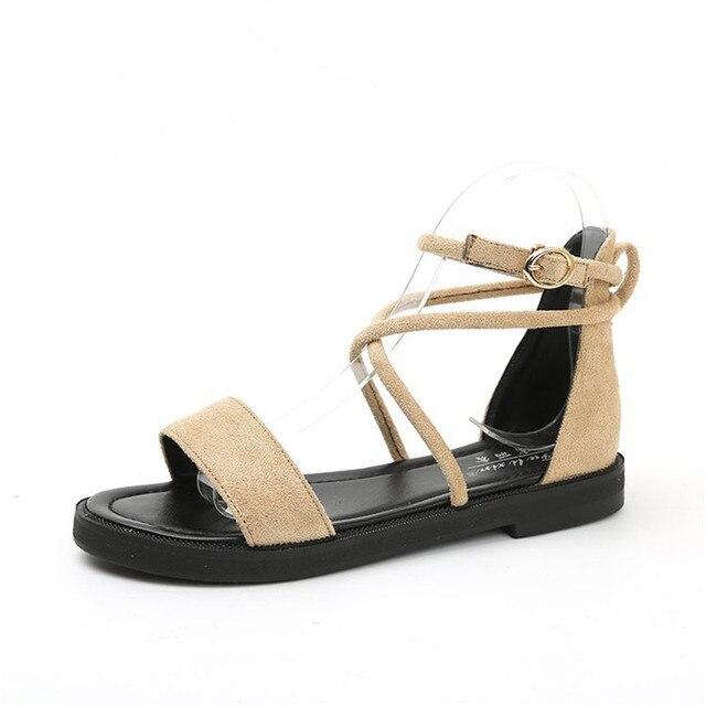 2018 printemps nouvelles sandales pour femmes femmes avant et arrière voyages, plat et orteil Pu couleur Pure Version coréenne