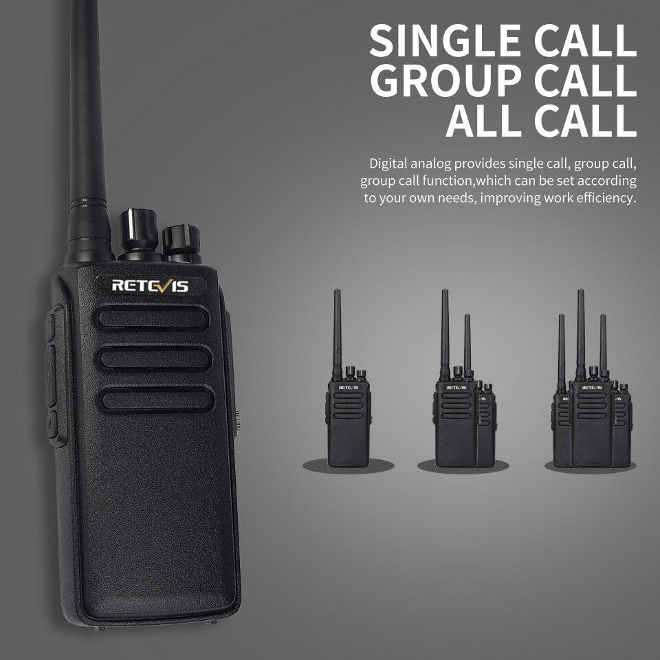 uhf 400-470 mhz vox digital analógico portátil rádio bidirecional