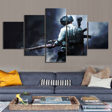 Decor Room Wall Art Painting Printed 5 Pieces Pubg Playerunknowns Battlegrounds Sniper Game Canvas Picture Modular Poster