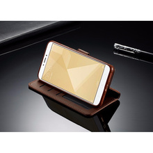 Luxury multi-purpose millet Redmi Note 4 red leather flip cover redmi note 4x card slot for basic phon