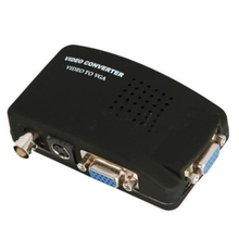 Portable BNC to VGA Video Converter Composite S-video Input PC Out Adapter Digital Switch Box 1080P For