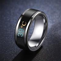 ZORCVENS-anillos de temperatura de acero inoxidable para hombre y mujer, Color negro, azul, dorado y plateado, gran oferta, 2021