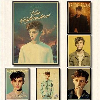 Powiedz mi, dlaczego piosenkarka Troye Sivan plakat wysokiej jakości drukowane malarstwo home decor art plakat