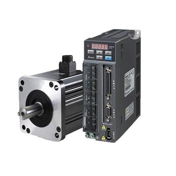 Delta universal type servo drive + servo motor 1KW 4.77N.m 17bit 2000rpm130mm flanges sewing machine servo motor 90% appearance new servo drive sgdm 15ada