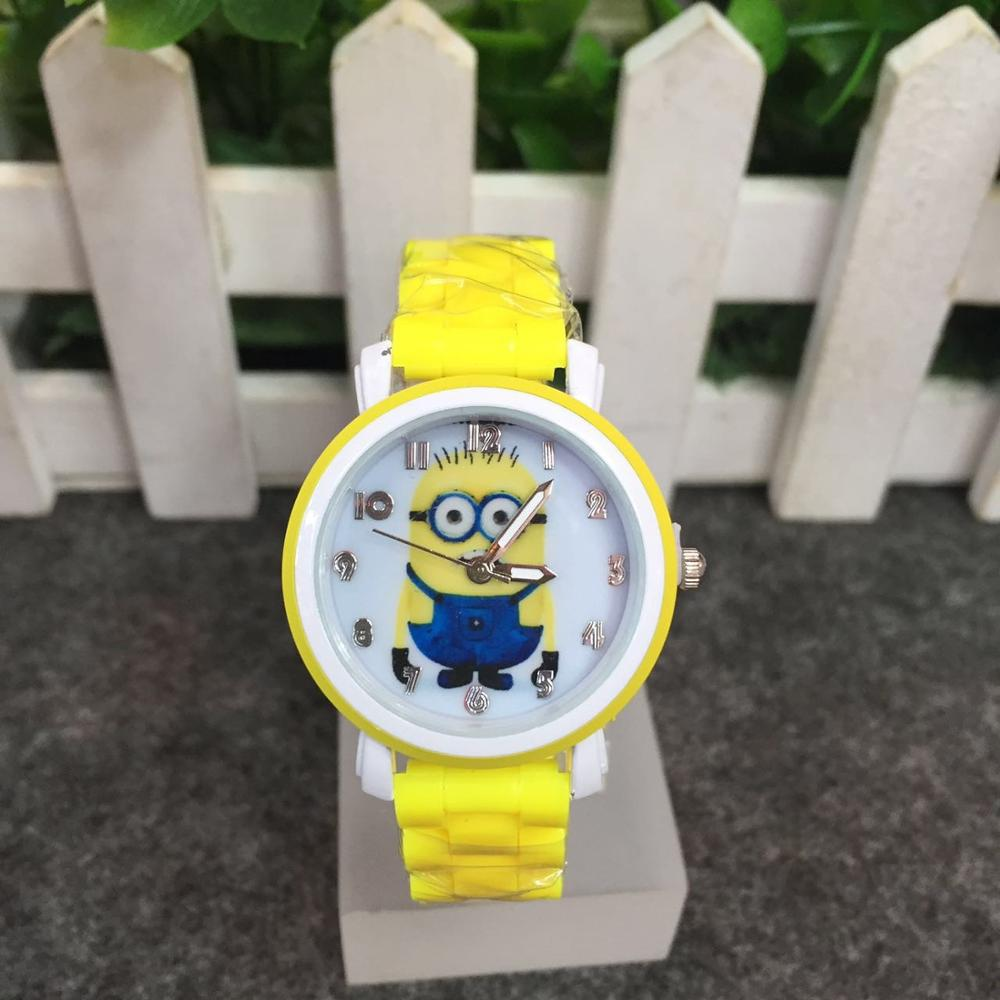 Cute Cartoon Little Yellow Man Child Watch Mini Soldier Cartoon Child Boy Student Watch Imitation Ceramic With Waterproof Watch