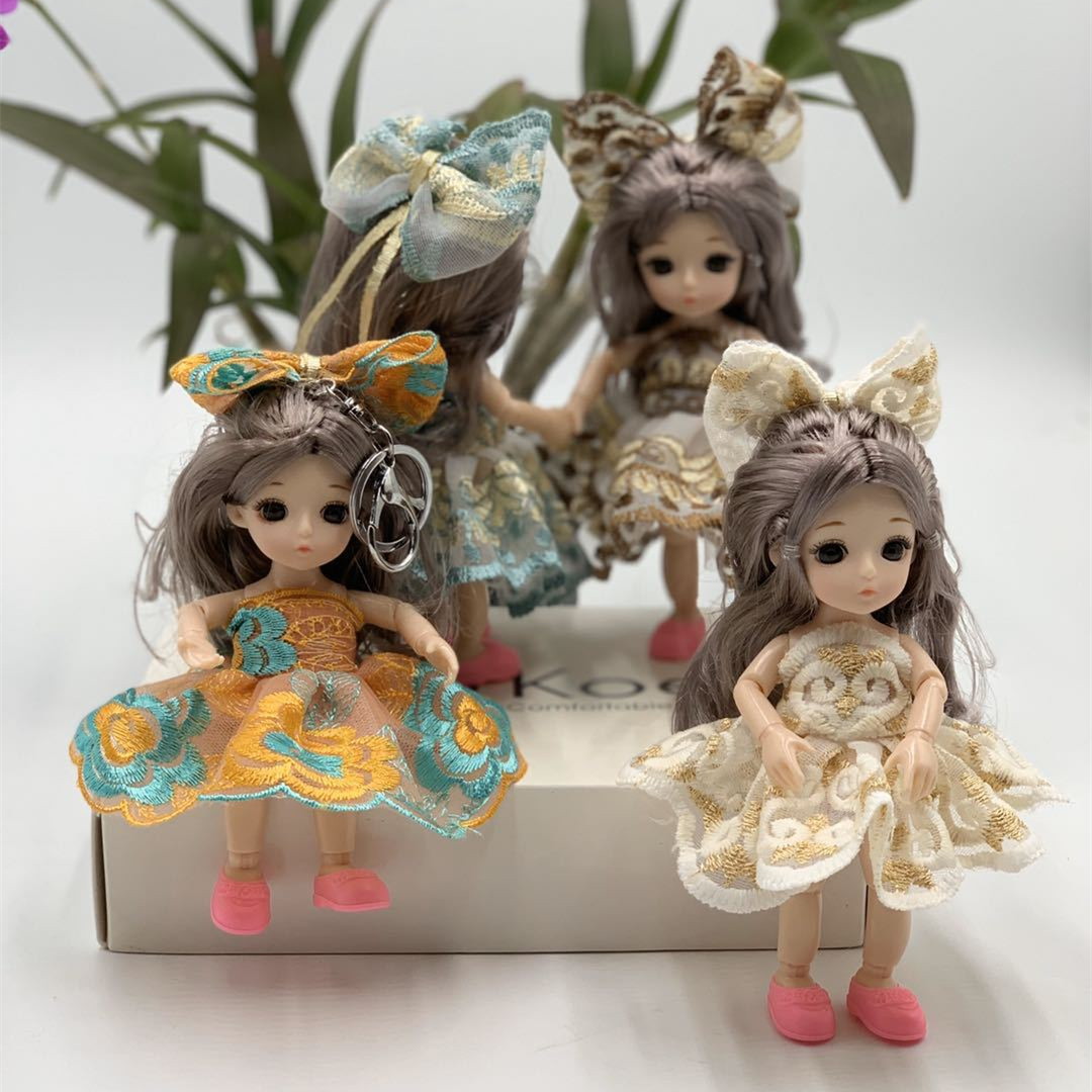 New 16cm BJD Mini Doll 13 Moveable Joint 3D Eyes Beautiful Toy Doll With Clothes Dress Up 1/8 Dolls Girl Toys