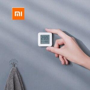 Image 2 - [Versão mais recente] termômetro xiaomi mijia de bluetooth, termômetro elétrico sem fio inteligente e digital com higrômetro, funciona com o aplicativo mijia