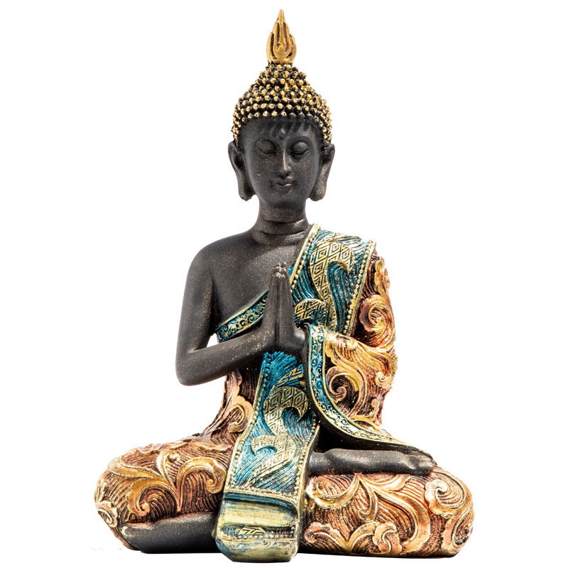 New 2020 Buddha Statue Thailand Buddha Sculpture Green Resin Hand Made Buddhism Hindu Fengshui Figurine Meditation Home Decor