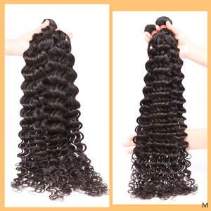 28-30inch Deep-Wave-Bundles Lace-Frontal Closure Remy-Hair Human Brazilian Links