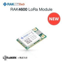 Moduł RAK4600 LoRa zawiera MCU RF52832 i układ SX1276 LoRa. Jest zgodny z protokołami LoRaWAN 1.0.2. Obsługuje BLE 5.0 na