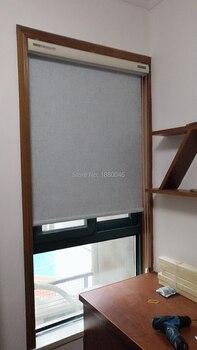 Korean style Light Blue color zebra blinds Cotton and Linen Texture Fabric Aluminium alloy roller blinds for Living room