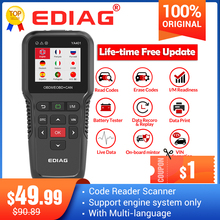 Ediag YA401 obdii code reader Scanner Free update Full OBD2 Functions battery check PK KW850 CR3008 Auto diagnostic tool