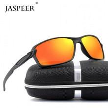 JASPEER Men Polarized Sunglasses Outdoor Sports Square Sun Glasses Women Travel Driving PC Frame UV400 Eyeglasses цена