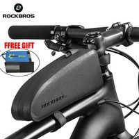 ROCKBROS Ciclismo Da Bicicleta Da Bicicleta Topo Tubo Frente Saco À Prova D 'Água Saco de Quadro Grande Capacidade MTB Bicicleta Pannier Caso Acessórios Da Bicicleta