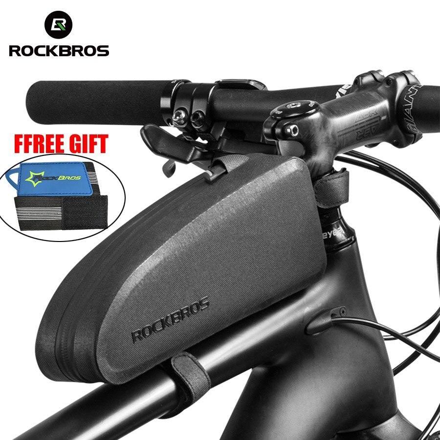 RockBros Cycling Tool Bag Rainproof Portable Black Bike Bag Box Frosted Pattern