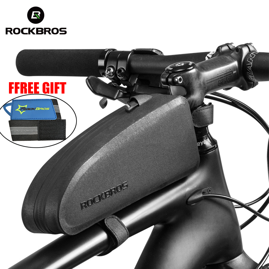 ROCKBROS Cycling Bike Bicycle Top Front Tube Bag Waterproof Frame Bag Big Capacity MTB Bicycle Pannier Case Bike Accessories