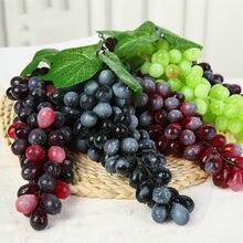 12/18/22/36/45/60/85/110 голов, черный, красный, зеленый, фиолетовый искусственный виноград, Висячие реквизиты для фотографии, украшение, искусственны...