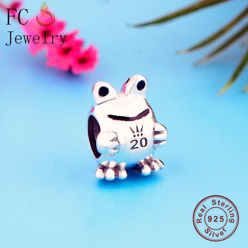FC Jewelry Fit Original Pandora Charm Bracelet 925 Silver 2020 Limited Edition Frog Bead Making Women Crown Fine Berloque 2020