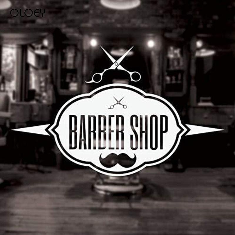 Мужской джентльмен парикмахерская наклейка стрижка машинка для стрижки волос бритва плакат виниловые настенные художественные наклейки