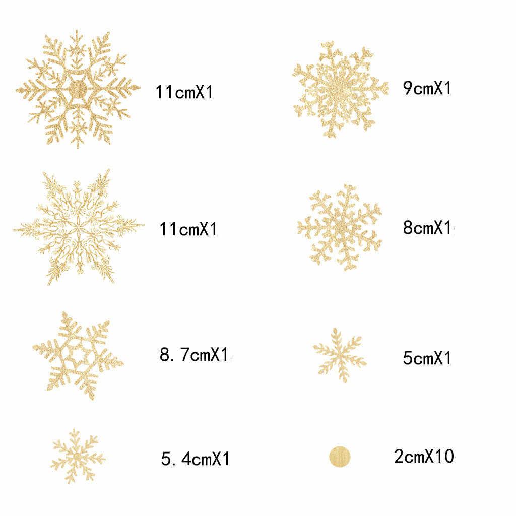 Рождественская наклейка s Золотая комбинация Снежинка ПВХ Наклейка на стену для гостиной окна магазин украшение новогодний стеклянный Декор
